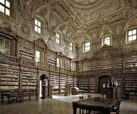 national library of the girolamini oratory, naples, italy by massimo listri