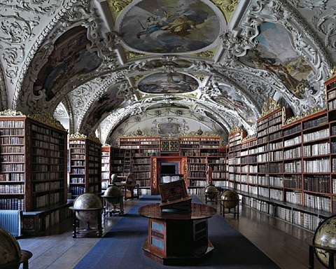 the theological hall of the strahov library in prague by massimo listri