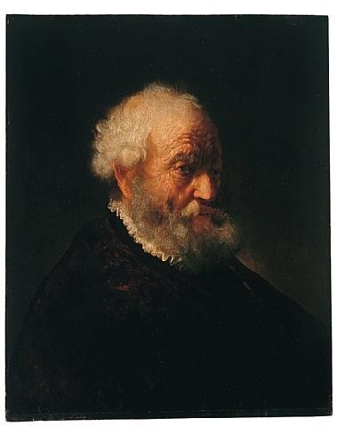 brustbild eines bärtigen alten mannes by govaert flinck