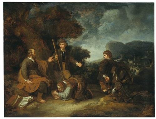 elisa und die sunamitin by carel fabritius