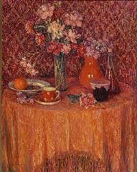 la table. harmonie rouge by henri le sidaner