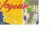 rue villaret de joyeuse (série disques phillips) - july 7, 1961 by jacques villeglé