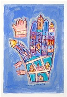 hamsa-prague ghetto streets by mark podwal
