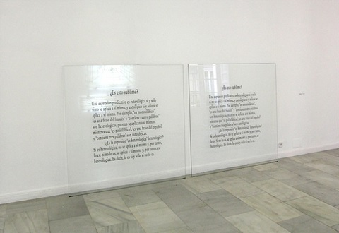 sublime iv by joseph kosuth