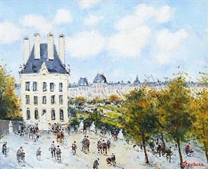 le louvre et le jardin des tuilleries by jean pierre dubord