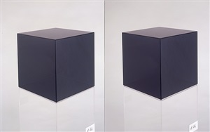 cube #46 (dark grey) by larry bell