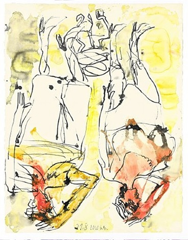 bereit am morgen by georg baselitz