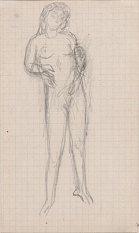 standing nude (nu debout) by pierre bonnard