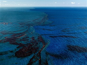 oil spill #9, oil slick at rip tide, gulf of mexico, june 24 by edward burtynsky