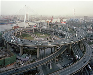 nanpu bridge interchange, shanghai, china by edward burtynsky