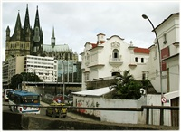 "the cologne cathedral at the rio historical canter (""e-scapes"" serie) by roberto cabot"