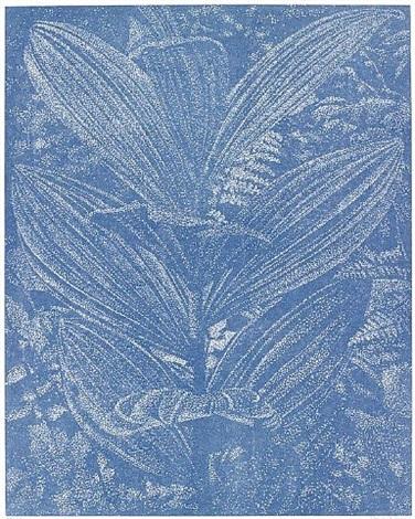 gelber enzian blau by franz gertsch