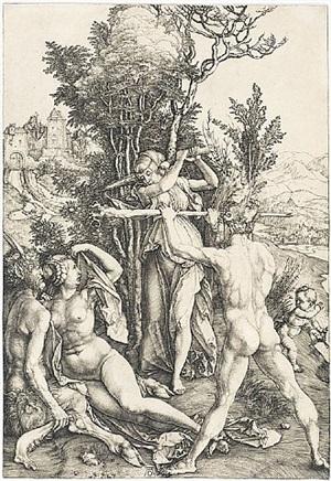 hercules at the crossroads by albrecht dürer