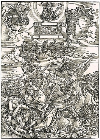 the four avenging angels of euphrates by albrecht dürer