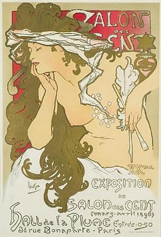 salon des cent/xxme exposition by alphonse mucha