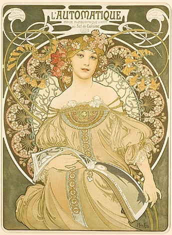 reverie – l'automatique by alphonse mucha