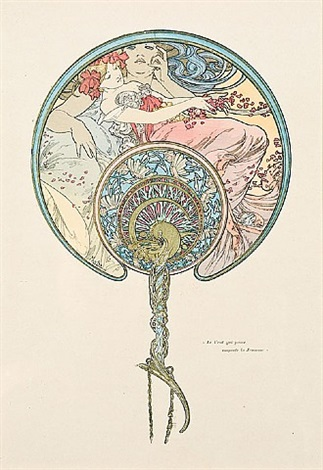 le vent qui passe emporte la jeunesse ( the passing wind takes youth away) by alphonse mucha