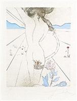 nu à la jarretière (nude with garter)nu à la jarretière (nude with garter) by salvador dalí