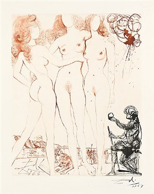 the judgement of paris by salvador dalí