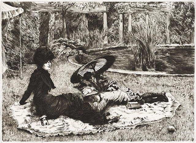 sur l'herbe (on the grass) by james jacques joseph tissot