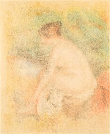 baigneuse s'essuyant (bather drying herself) by pierre-auguste renoir
