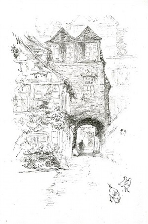 the priest's house, rouen by james abbott mcneill whistler