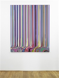 puddle painting: pale mauve (after klimt) by ian davenport