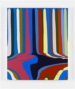 puddle painting: small blue (after fra angelico) by ian davenport