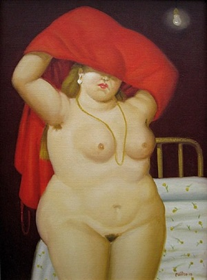 the bedroom by fernando botero