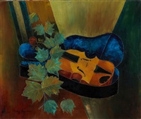 composition with violin by tony agostini