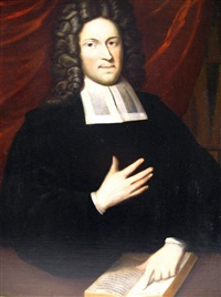 portrait of minister with book by gerard jan palthe