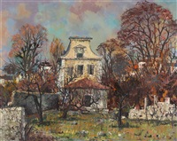 townhouse with walled garden by maurice armand buffet