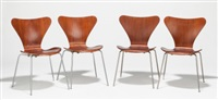 model 3107 (set of four chairs) by arne jacobsen