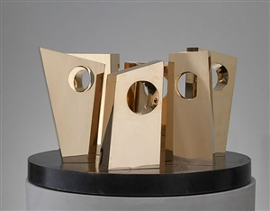 six forms on a circle by barbara hepworth