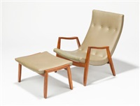scoop armchair and ottoman by milo baughman