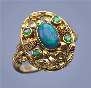 superb arts and crafts ring by henry wilson