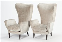 pair of armchairs by paolo buffa