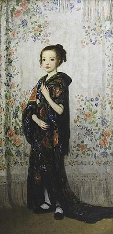 spanish shawls (rosemary) by francis luis mora