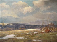 early/late winter landscape by henrik hillbom