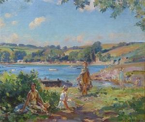 the bathers by wilfred gabriel de glehn
