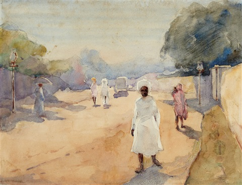 a street in hyderabad deccan india by ralph wormeley curtis