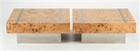 coffee table (set of two) by milo baughman