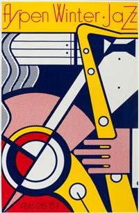aspen winter jazz poster by roy lichtenstein