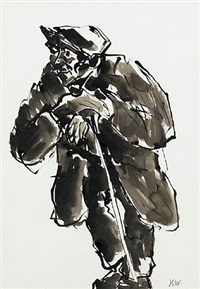 a hill farmer (wil ifan) by sir kyffin williams
