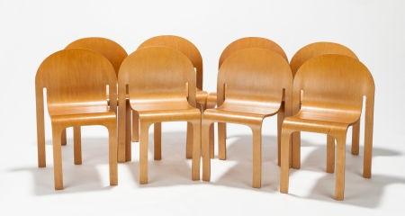 Eco Eden (set Of Eight Chairs) By Peter J. Danko