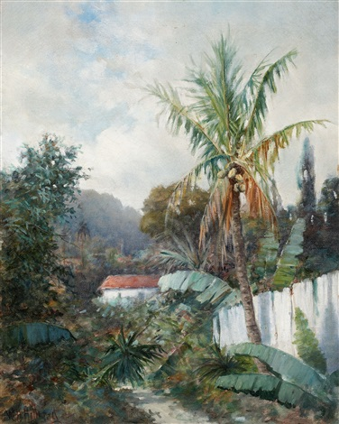 tropical landscape by william h hillard