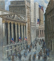 the stock exchange and the financial district by guy a. wiggins