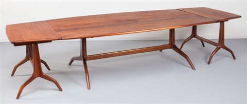 A Rare And Early Dining Table With End Extensions 1961 By Sam Maloof
