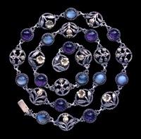 arts & crafts floral necklace designed by edward spencer by artificers' guild