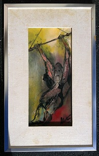 old man on trapeze by j. james akston